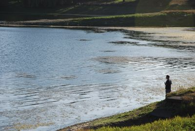 Low water lake fishing